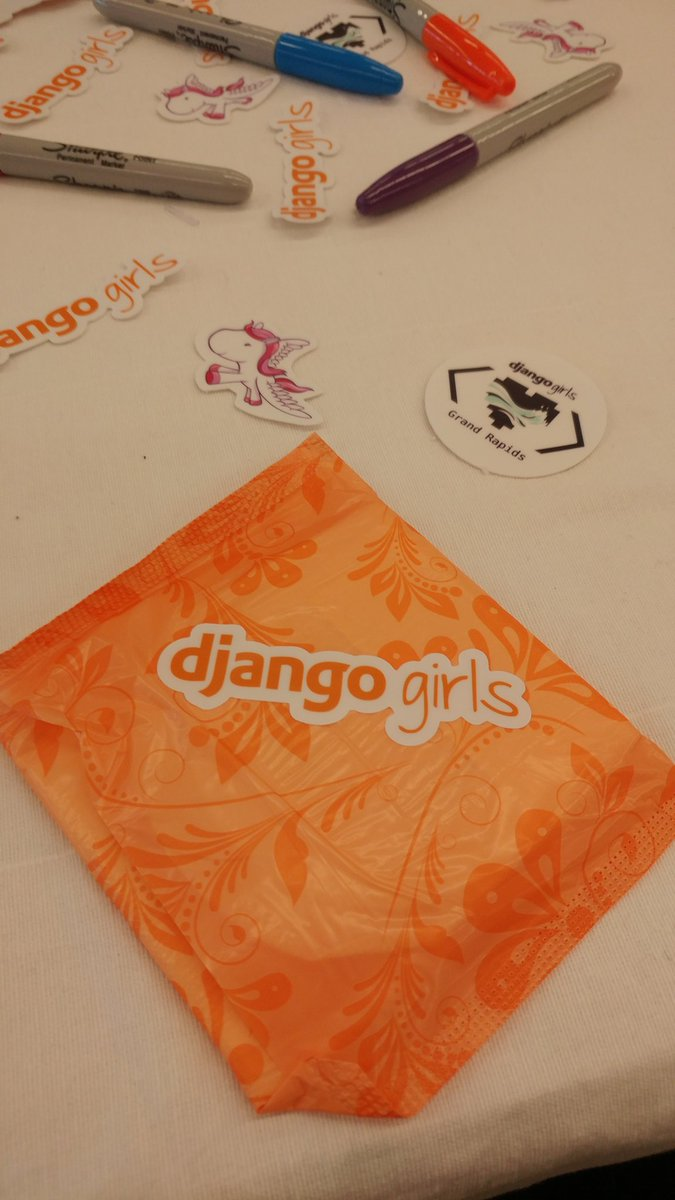 django girls stickers and markers